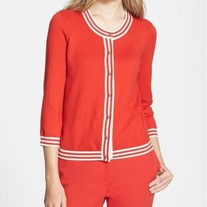 Kate spade cardigan red buttoned down anabela Xs